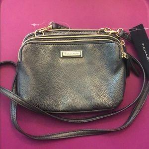 Grey crossbody mini purse